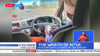 NTSA revokes a license of matatu driver captured on camera operating a mobile phone while driving