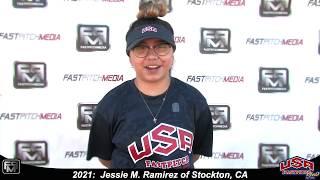 2021 Jessie M. Ramirez Catcher and Outfield Softball Skills Video - USA Fastpitch 18 Gold