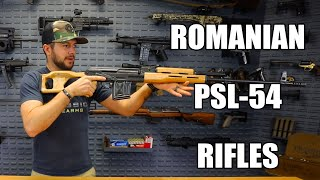 Romanian PSL-54 Rifle, 7.62x54R, Semi-Auto,10 Rd, Laminated Stock, Factory New, From Cugir Arsenal Romania - Scope Optional