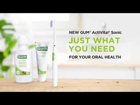 GUM (4100) ActiVital Sonic, baltas kaina ir informacija | Elektriniai dantų šepetėliai | pigu.lt