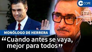 Herrera se despide de Sánchez