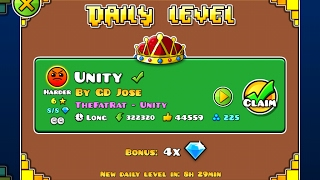 Geometry Dash [2.1] | Daily Level 14/02/17 | Unity by GDJose (2 coins)