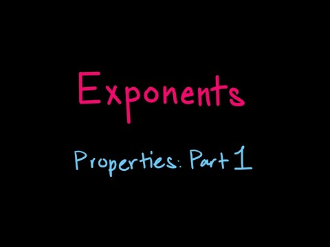 An introduction of some exponent properties.