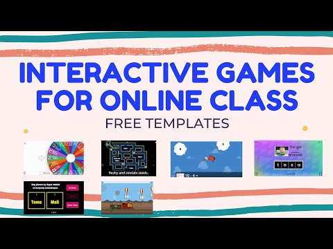 Interactive Games for Online Class ( free templates )