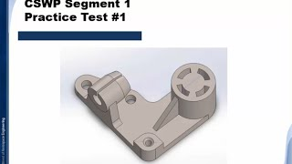 Solidworks Tutorial | CSWP Segment 1 | Practice Test #1 | BWEngineering