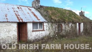 ABANDONED IRISH THATCHED COTTAGE AND FARM BUILDINGS, IRELAND. / LIFE AFTERLIFE TV PRODUCTIONS.