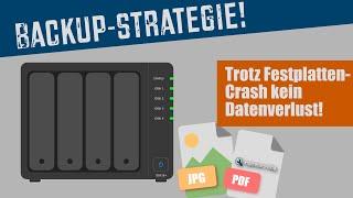 Backup-Strategie mit Synology-NAS (DS918+): Selbst nach Festplatten-Crash alle Daten gerettet!