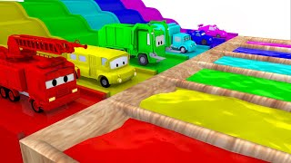 Learn Colors Car City Street Vehicles - Learning With Ambulance, Fire Truck, Police Car For Children