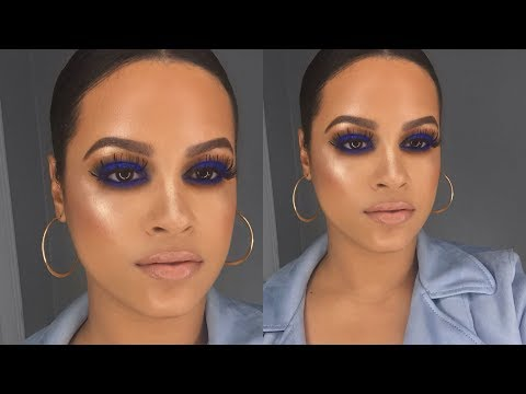 Kim Kardashian Inspired Blue Smokey Eye Using The New Sephora Pro Editorial palette Supremehenny