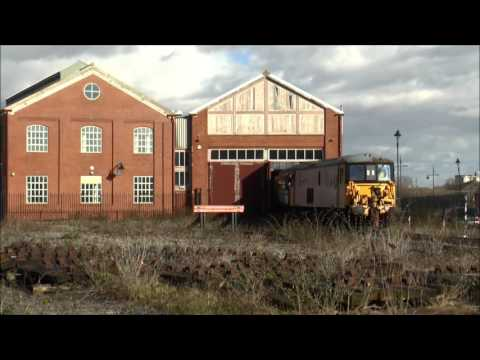 Barry Tourist Railway stock moves with 73118, 37025 & 08503 …