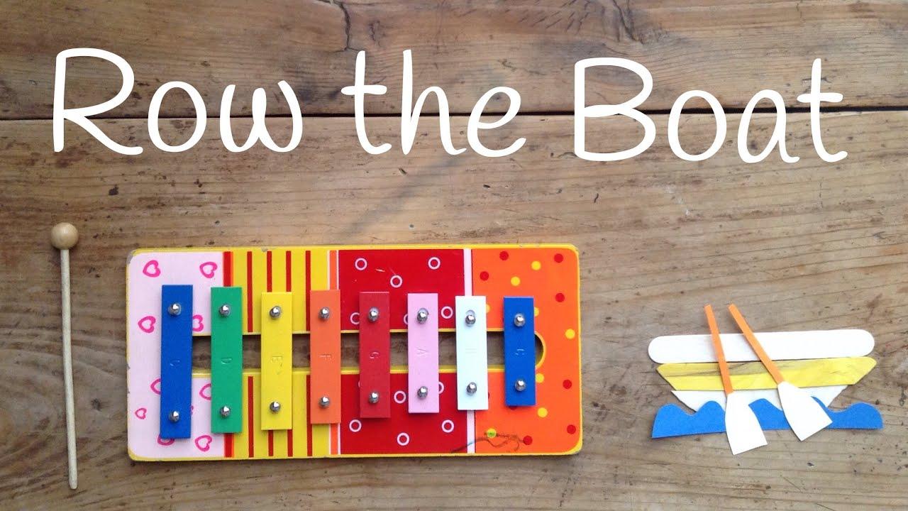 Canciones con XILOFONO para niños | Cómo TOCAR Row Row Row your boat