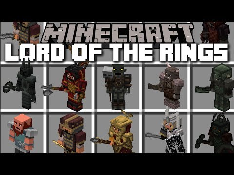 Minecraft LORD OF THE RINGS MOD / FIGHT AND DEFEND YOUR VILLAGE FROM MOBS!! Minecraft