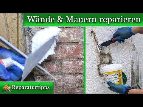 Wände und Mauern mit Molto reparieren.