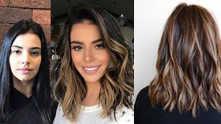 40+ Inspiring Hairstyles For Dark-Brown Hair With Highlights | Hair Color Ideas 2020