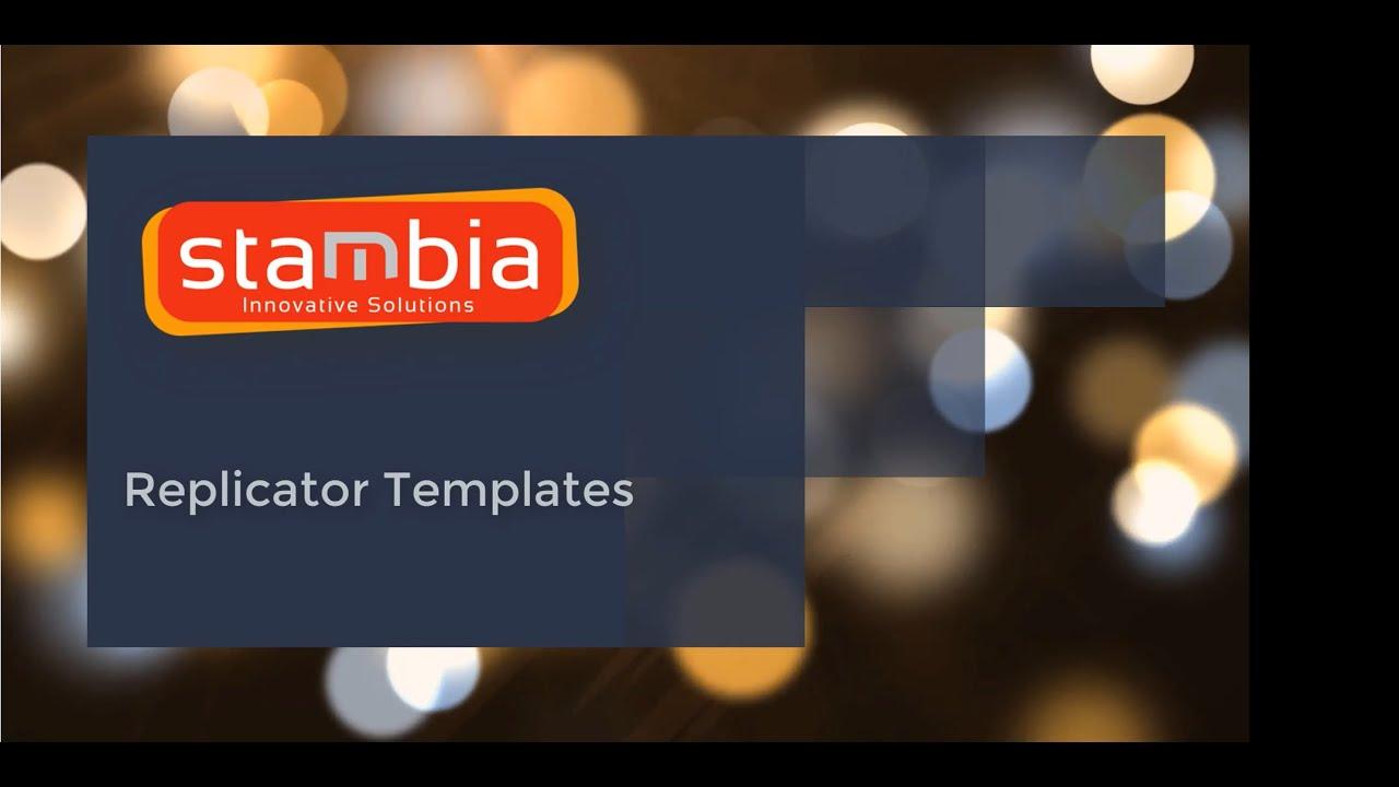 Vidéo Stambia et son template de réplication des données