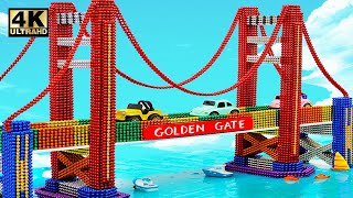 DIY - How To Build Amazing Golden Gate Bridge From Magnetic Balls ( Satisfying )   Magnet World 4K