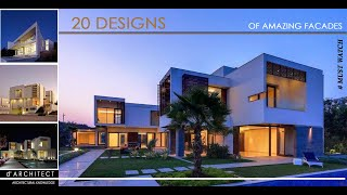 20 Modern House Facades | Part - 1 | Architectural Inspirations
