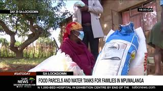 Food parcels, water tanks donated to Kruger National Park residents