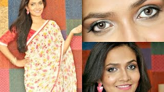Image for video on Day Time Smokey Eye Look | How To Style a Saree by Bakeup & Makeup