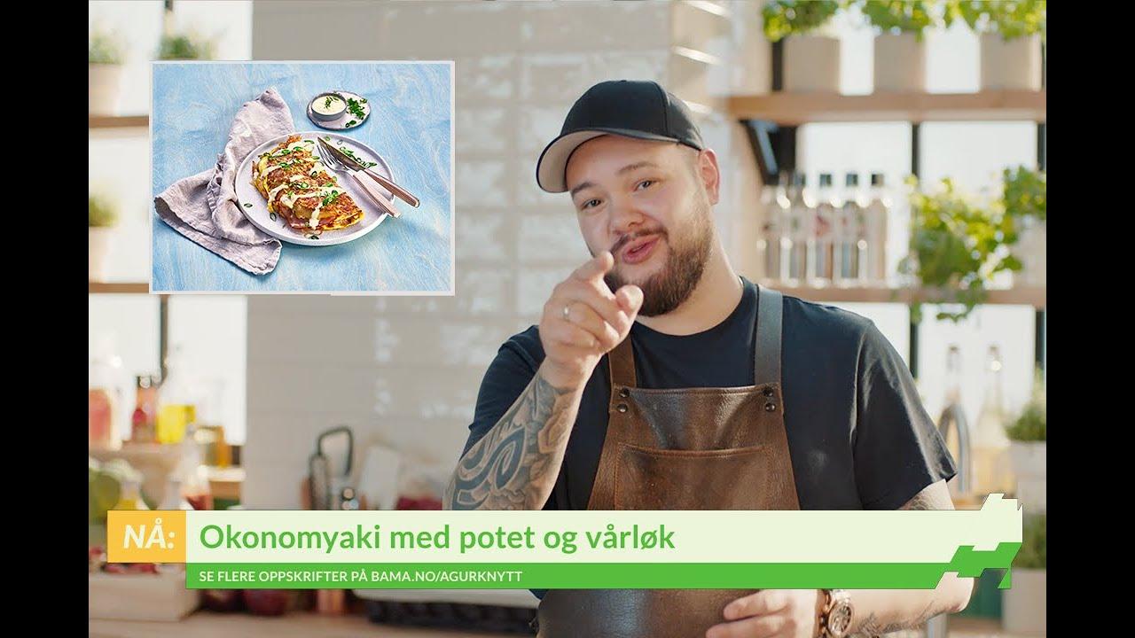 Oppskrift på Okonomiyaki med potet og vårløk