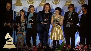 Arcade Fire in the media center after winning Album of the Year! | GRAMMYs