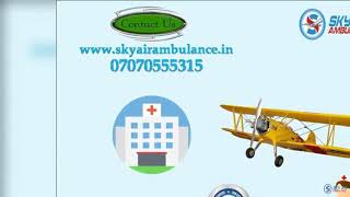 Pick Air Ambulance Service in Jamshedpur with MD Doctor