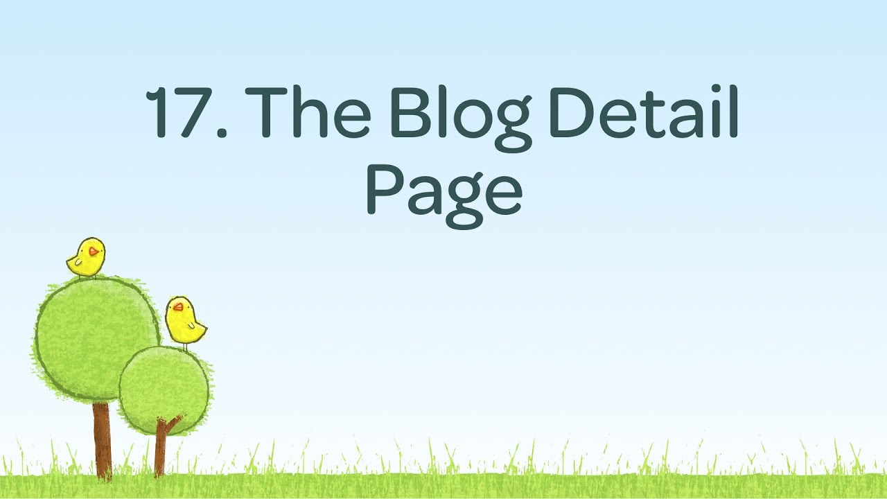 Create a Blog Detail page