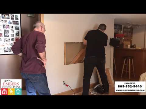 How to install recessed Electric Wall Mount Fireplace