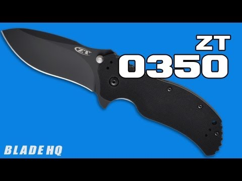 "Zero Tolerance 0350BW Assisted Opening Knife (3.25"" BlackWash) ZT"
