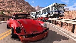 Collapsing Bridge Pileup Car Crashes #19 - BeamNG DRIVE   SmashChan