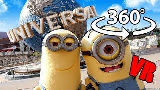 VR 360 Video Universal Studios Orlando Parade Inc Despicable Me Minions & Sponge Bob