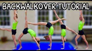 How To Do A Back Walkover    Gymnastics Tutorial