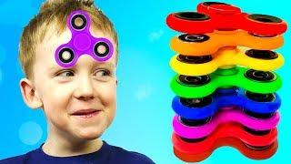 Funny Baby & Magic Fidget Spinner Challenge for Kids ФИДЖЕТ СПИННЕР челлендж & РУМ ТУР Картонка