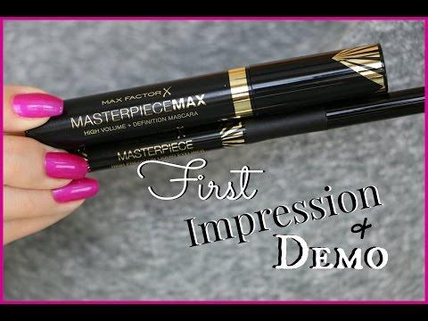 NEW Max Factor Mascara & Liquid Eyeliner   First Impression & Demo
