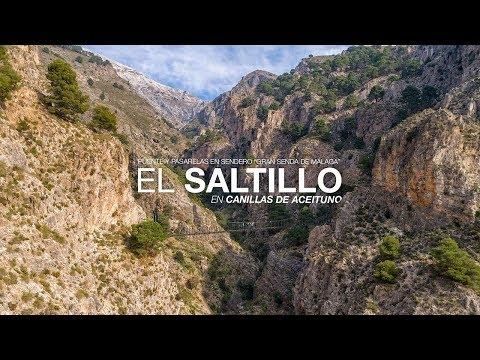 El Saltillo. Puente colgante. Canillas de Aceituno. Gran Senda de Málaga. Etapa 7