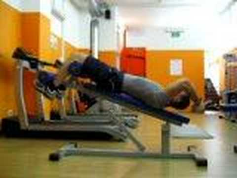 Weighted Incline Crunch (arms crossed)