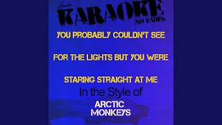 You Probably Couldn't See for the Lights But You Were Staring Straight At Me (In the Style of...