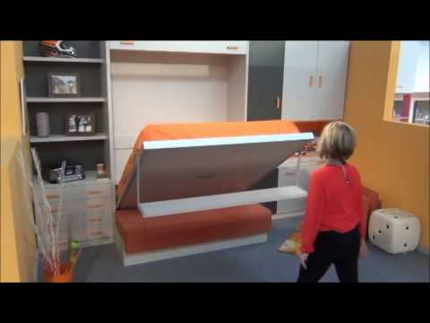 IDEAS PARA DECORAR UN DORMITORIO CON SOFA-CAMA ABATIBLE. MUEBLES PARCHIS
