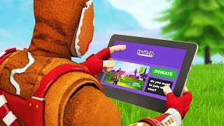 I asked twitch streamers to join my Fortnite clan...