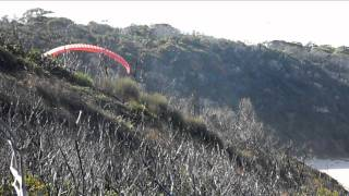 preview picture of video 'Paragliding at Merimbula Short Point Beach'