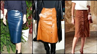 Latest And Stylish Leather Skirts Collection