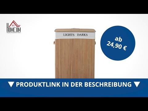 Homcom Wäschekorb Wäschetruhe Wäschebox Wäschesammler 100L Bambus - direkt kaufen!