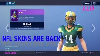 Fortnite item shop (2-1-19) NFL skins are back