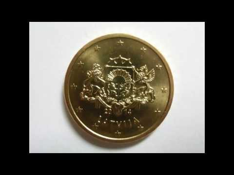 eiro monētas Latvija / Euro coins latvia / Euromünzen aus Lettland