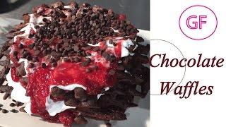 Chocolate Waffles Gluten Free Vegan Recipe