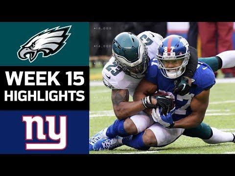 Eagles vs. Giants | NFL Week 15 Game Highlights