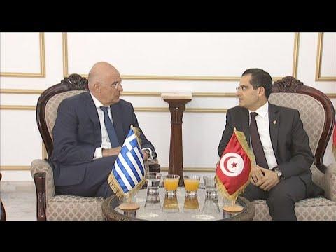 Συναντήσεις Δένδια με την πολιτειακή και πολιτική ηγεσία της Τυνησίας
