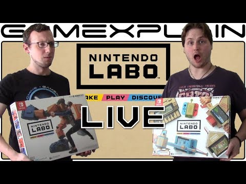 8 Hours of Nintendo Labo Gameplay - Building Variety Kit Toy-Cons! (Livestream Archive)