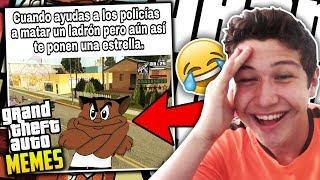 LOS MEMES MÁS GRACIOSOS DE GTA SAN ANDREAS!! #2 Grand Theft Auto Momos: Videojuegos