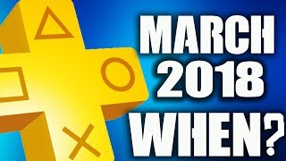 PS PLUS March 2018 Announcement Release Date BS